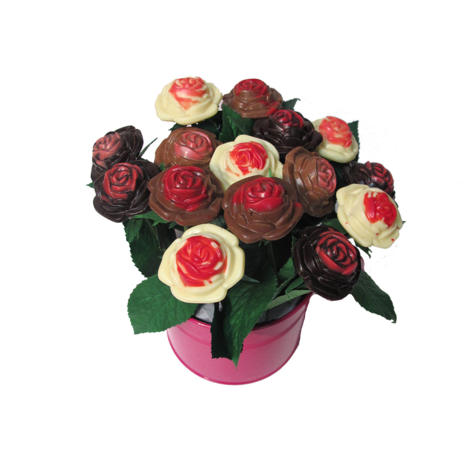 Bouquet de 15 roses en Chocolat