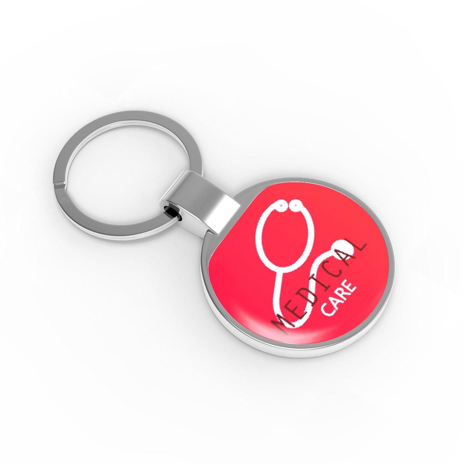100 porte-clés métal personnalisés