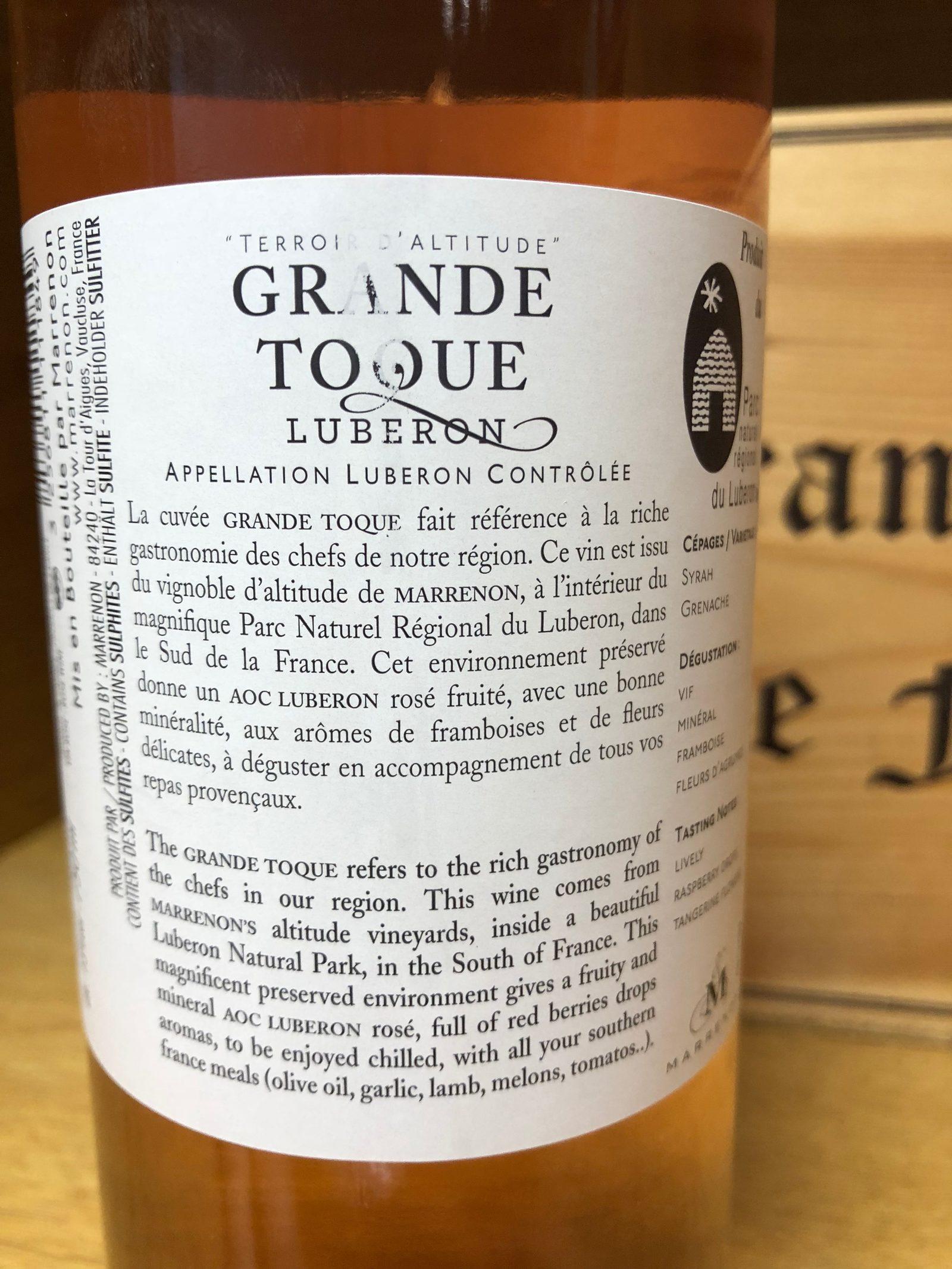 LUBERON ROSE GRANDE TOQUE