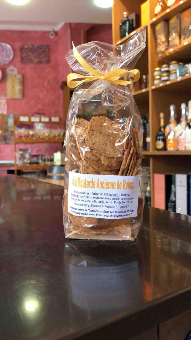 biscuits salés à la moutarde à l'Ancienne de Reims