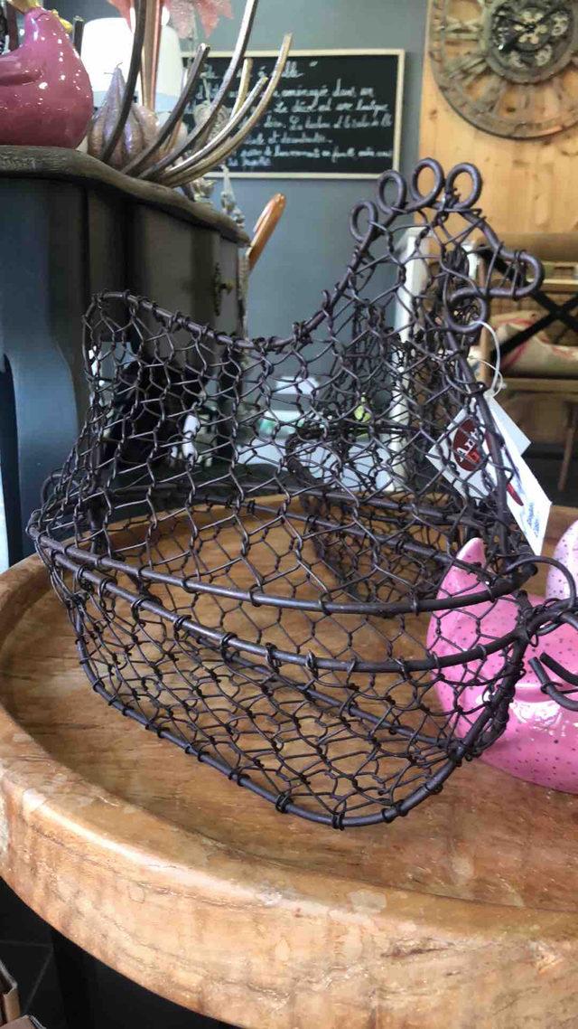 Poule cage en métal