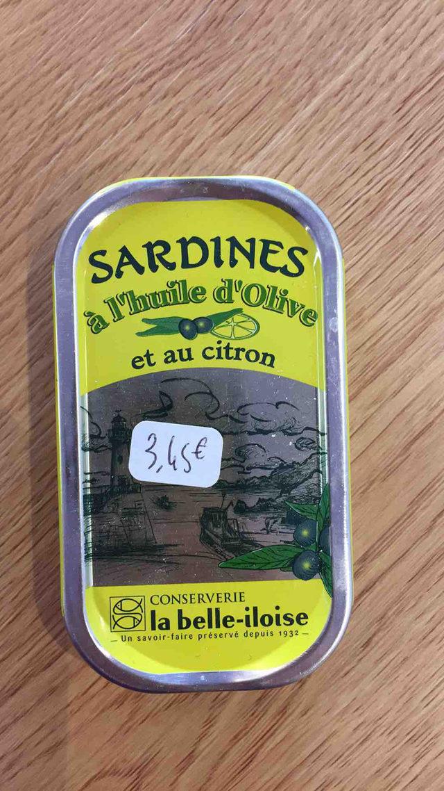 Sardines à l'huile d'olive et au citron La Belle Iloise