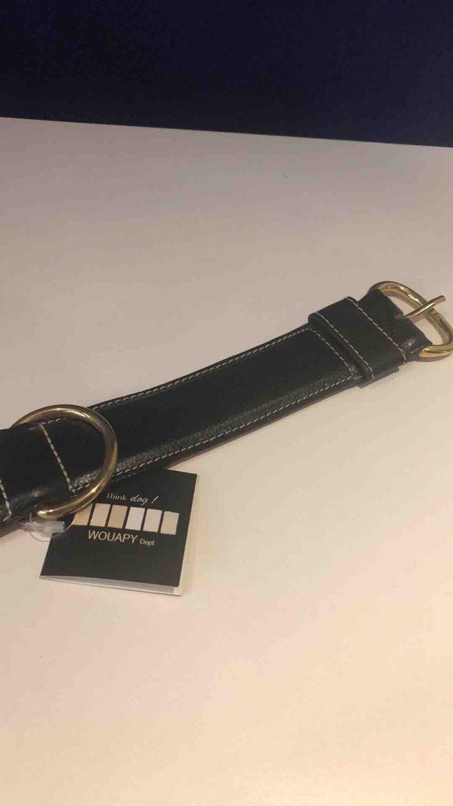 Collier cuir noir