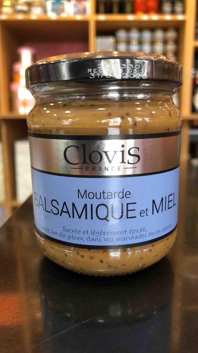 Moutarde Clovis Balsamique et miel