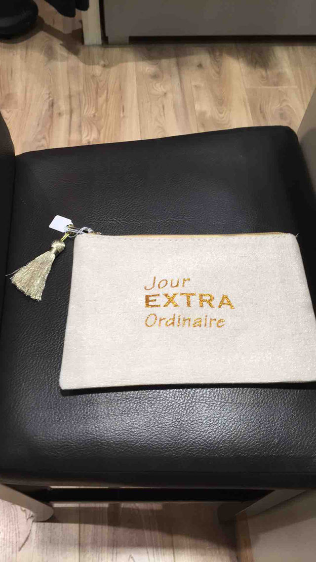 Pochette à message.