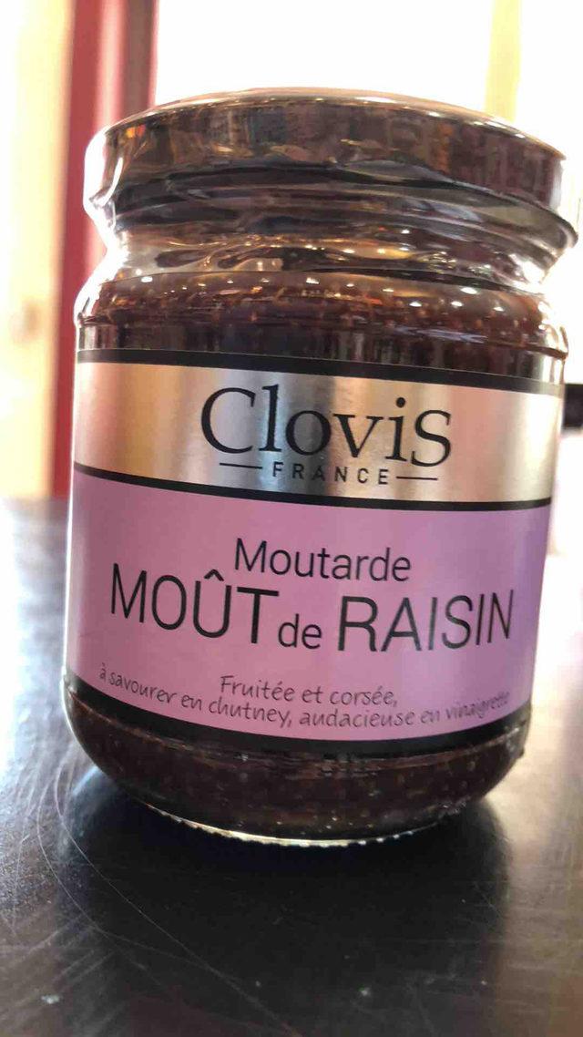 Moutarde Clovis au moût de Raisin