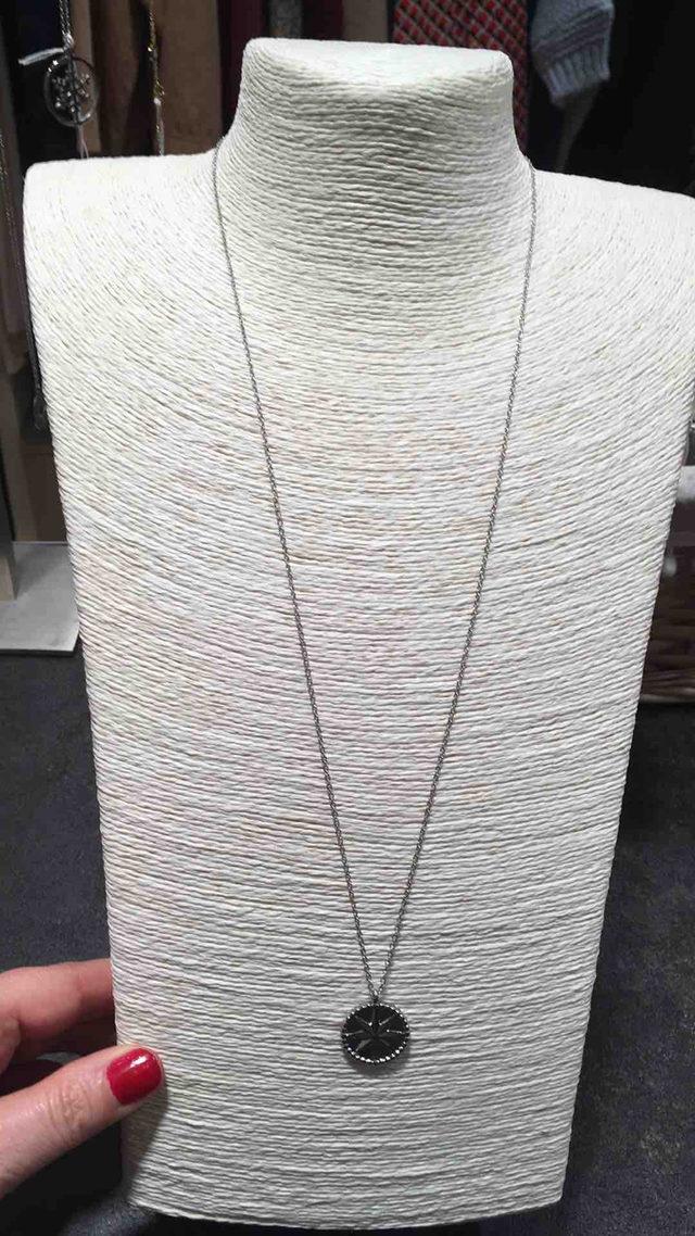 Collier long en acier inoxydable