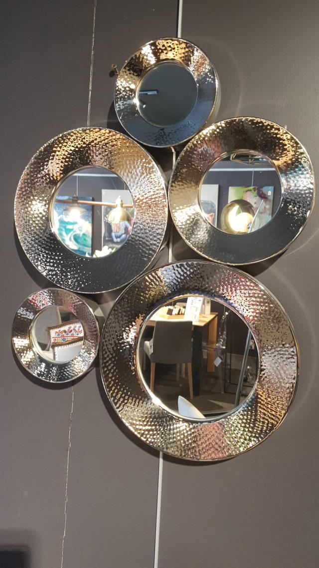 Miroir Circoli argenté