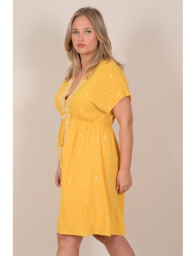 Robe jaune taille 48