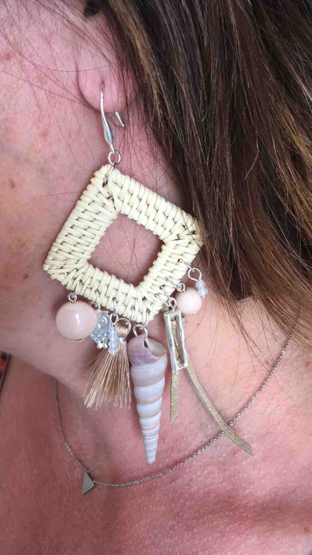 Boucle d'oreilles pour oreilles percées.