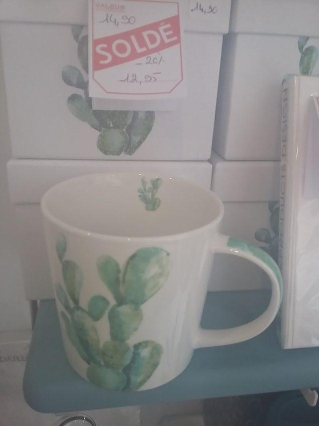 mug cactus avec boîte cadeau