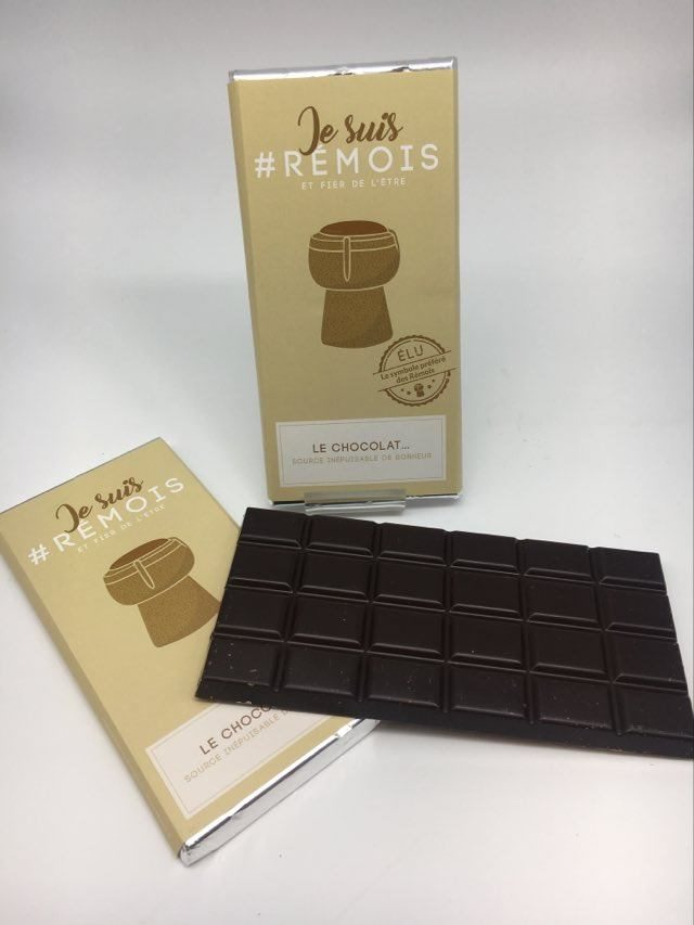 #je suis rémois BC chocolat noir