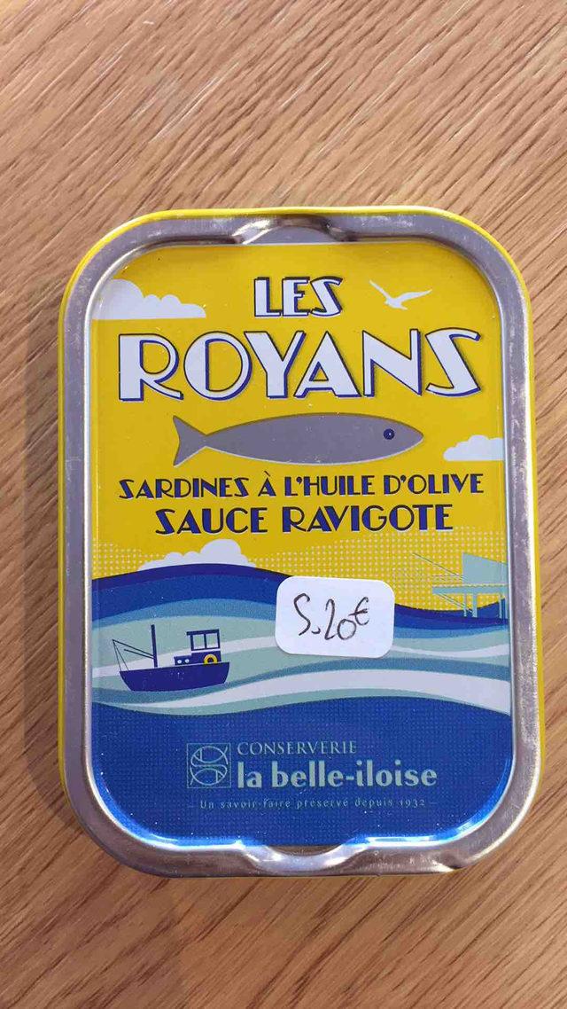 Sardines à l'huile d'olive sauce ravigote La Belle Iloise
