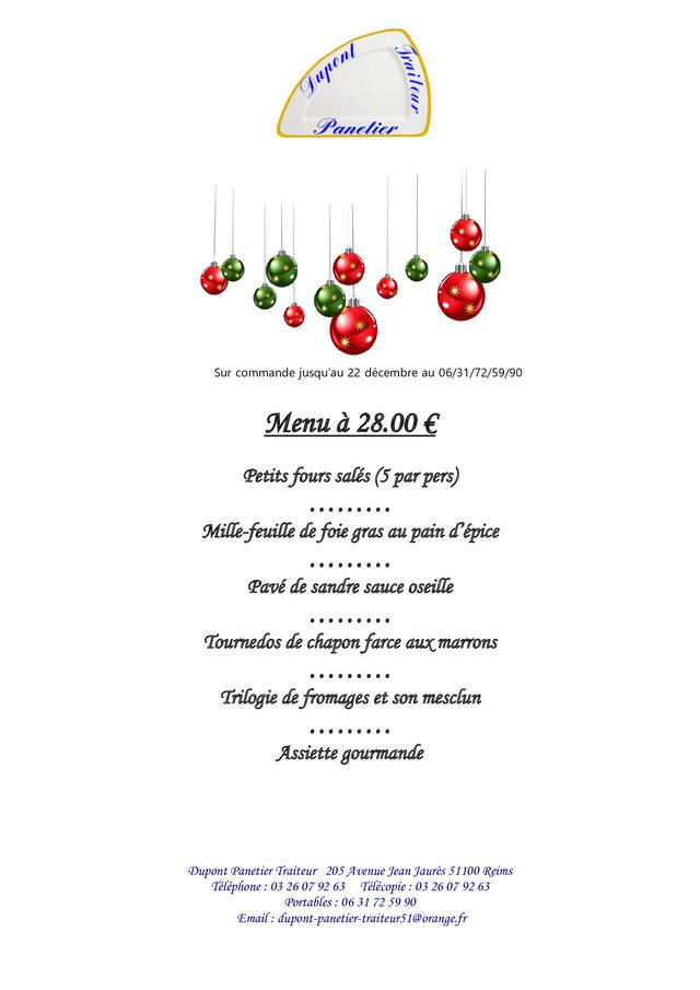 Menu de Noel