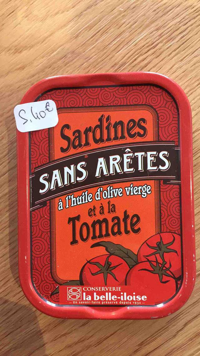 Sardines sans arêtes à l'huile d'olive vierge et à la tomate La Belle Iloise