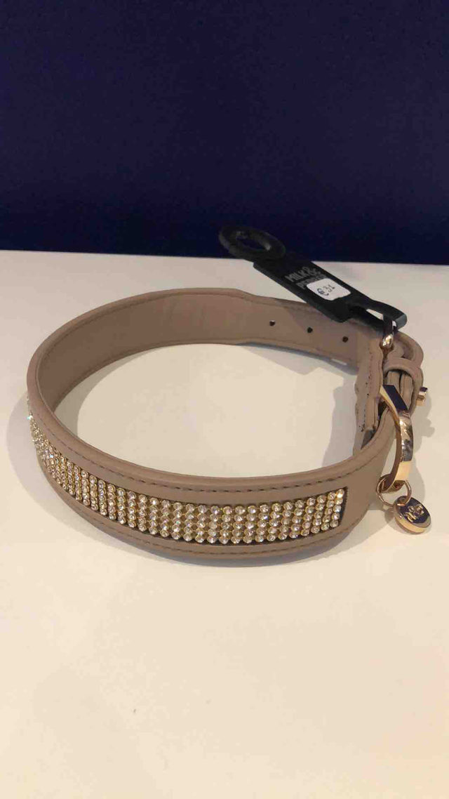 Collier Taupe à Strass