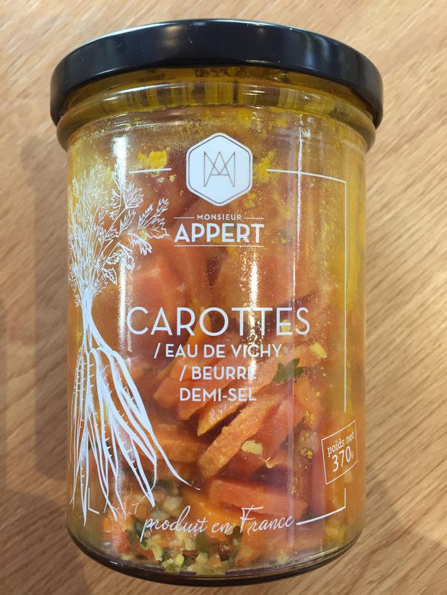 Carottes / Eau de Vichy / Beurre demi sel