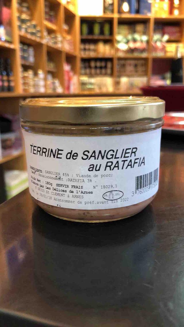 Terrine de Sanglier au Ratafia
