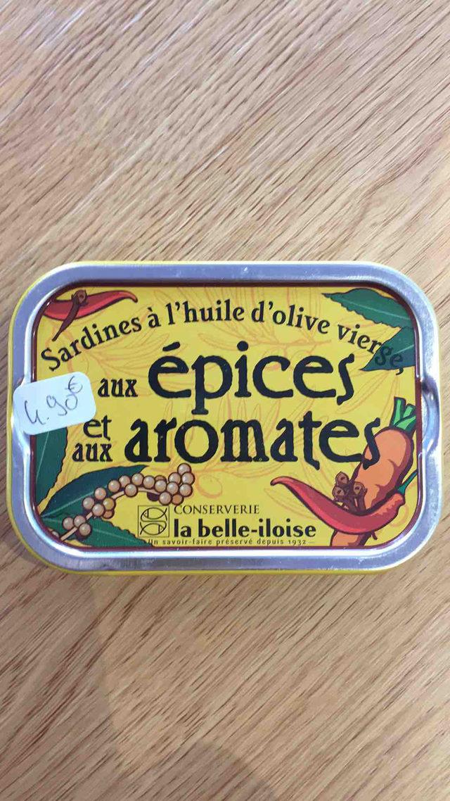 Sardines à l'huile d'olive vierge, aux épices et aux aromates La Belle Iloise