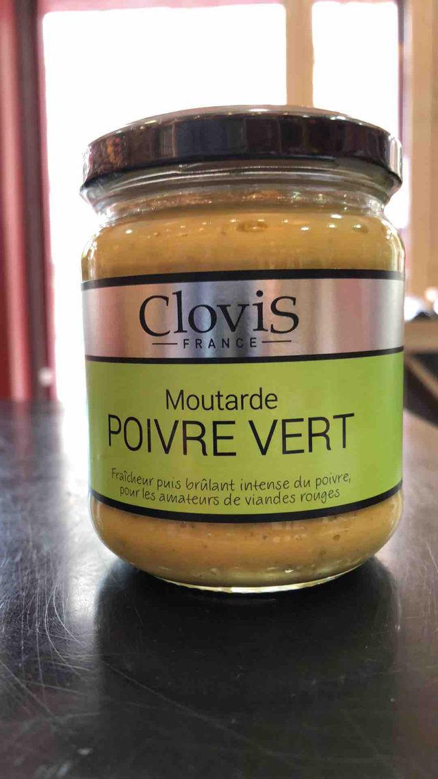 Moutarde Clovis au poivre vert