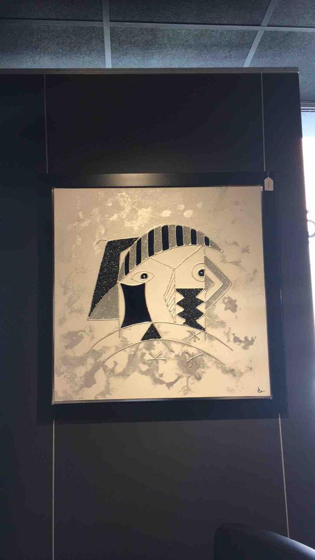 tableau Picasso noir et blanc