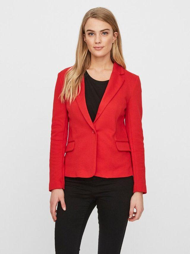 veste femme rouge taille 40