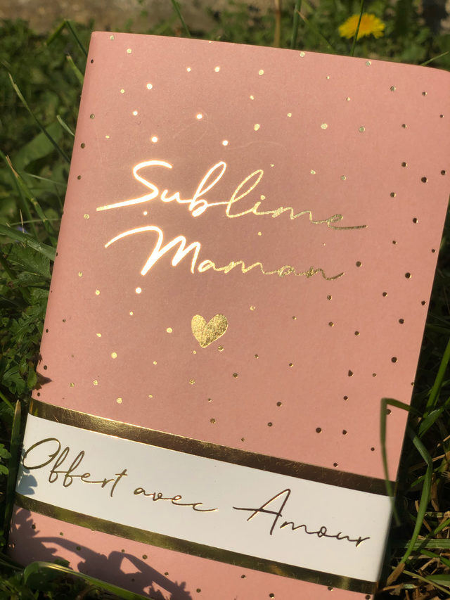 "Carnet rose ""Sublime Maman"""