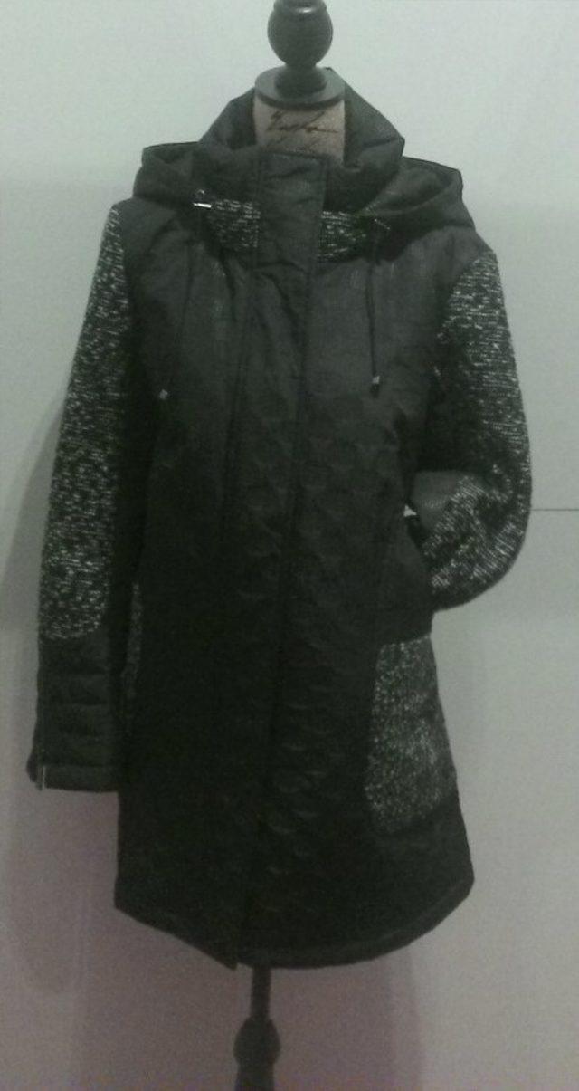 manteau bi-matière en taille 52