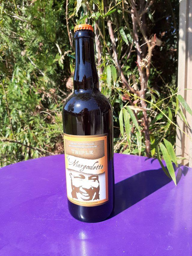 Bière triple rousse la Margoulette 75 cl