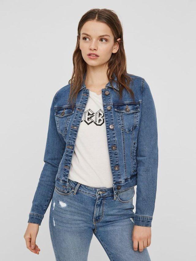 veste en jean femme taille s