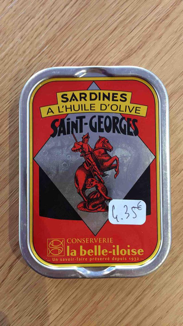 Sardines à l'huile d'olive saint Georges La Belle Iloise
