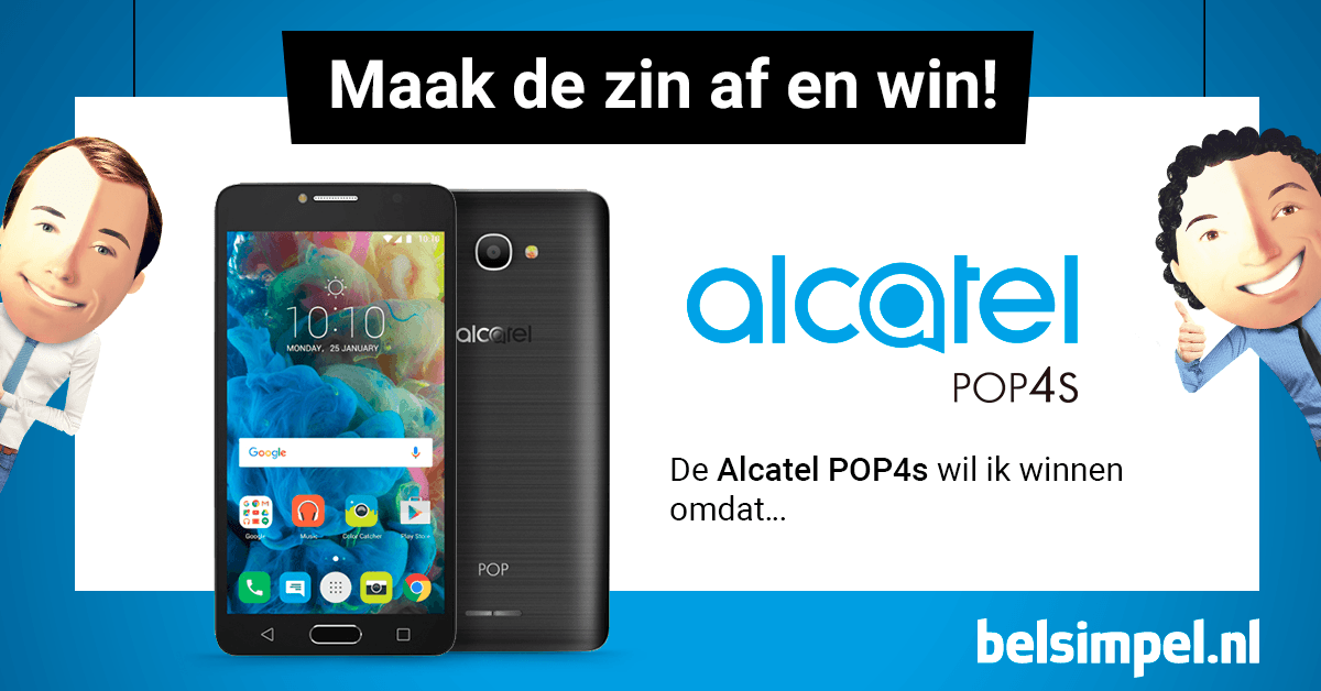 Win jij de Alcatel POP 4S?