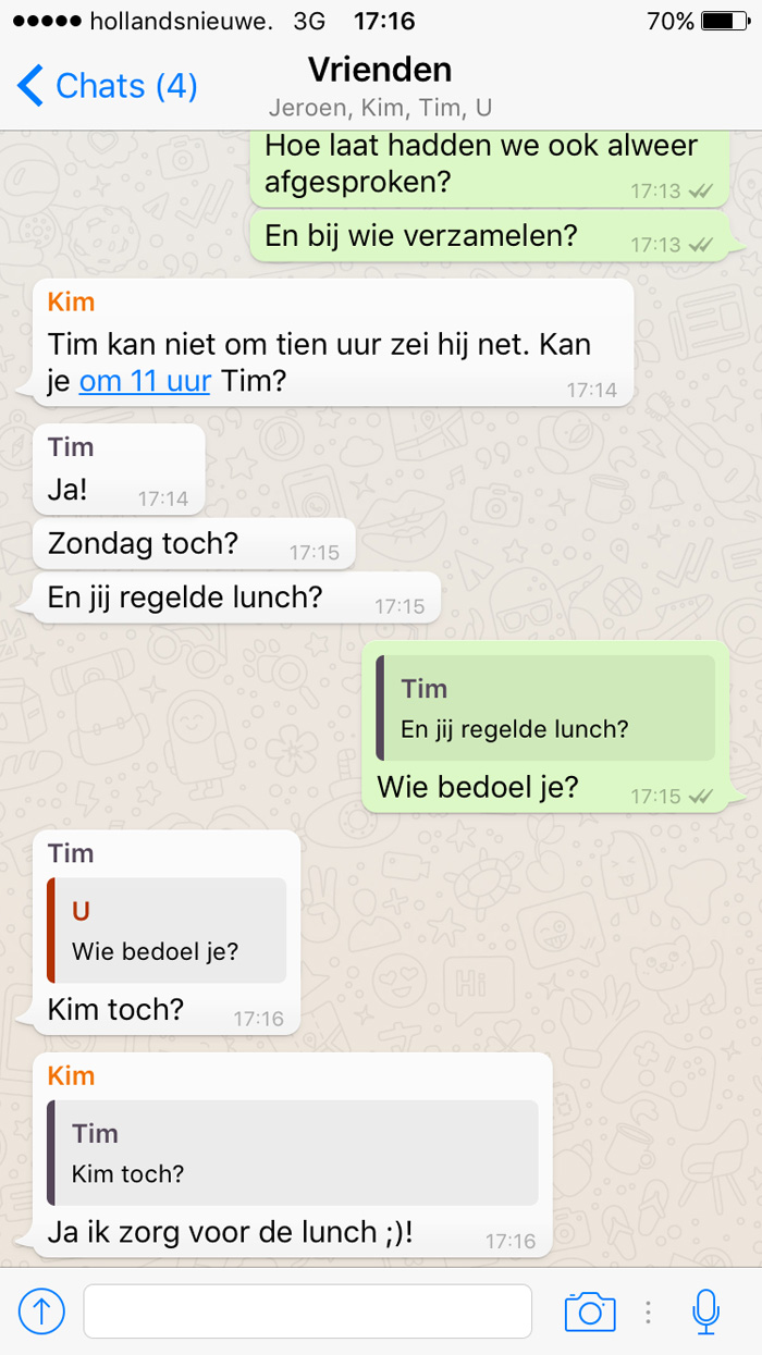 Whatsapp status flirten