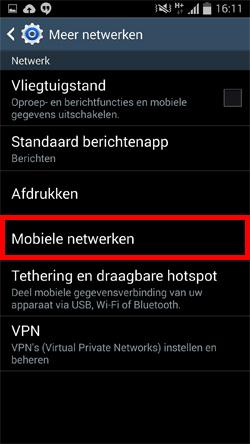 Afbeeldingsresultaat voor instellingen netwerk provider samsung