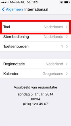 Taal instellen op iPhone of iPad – Belsimpel