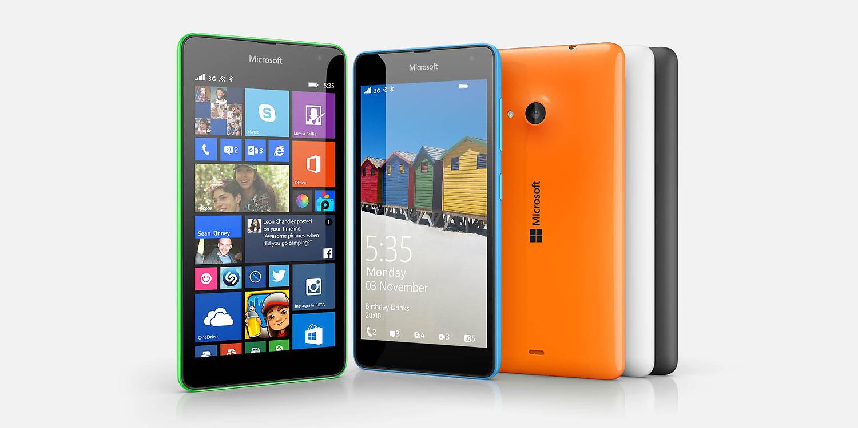 De eerste Microsoft smartphone: de Microsoft Lumia 535