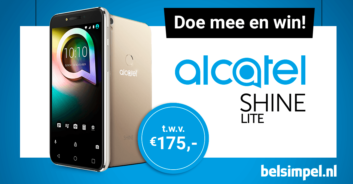 Win een Alcatel Shine Lite!