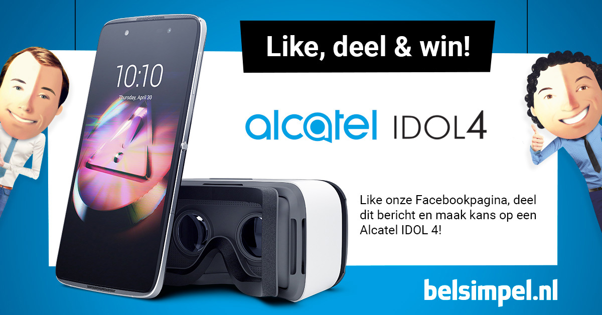 Win de Alcatel IDOL 4 Plus met VR-bril!