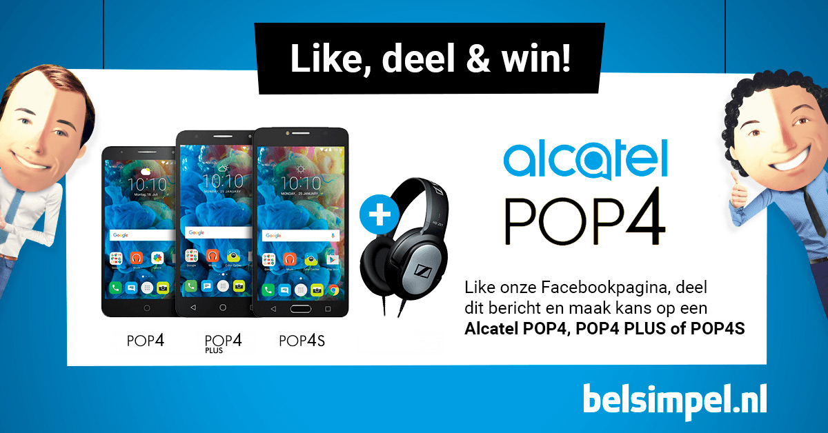 De Alcatel POP 4, 4 Plus en 4S: make a statement!