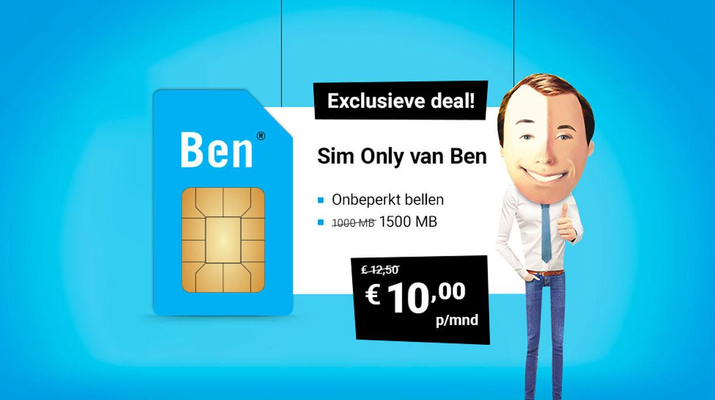 Exclusieve Ben-Sim Only's bij Belsimpel.nl!