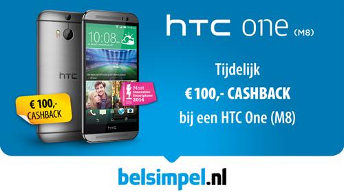 Decemberactie: 100 euro cashback bij aanschaf van een HTC One M8!