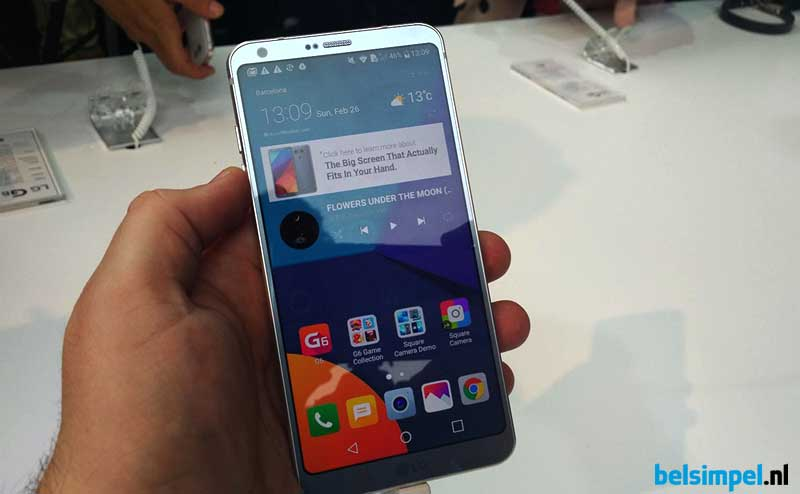Hands-on LG G6: slank toestel zet in op multimedia