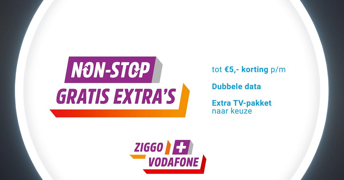 Combineer Vodafone & Ziggo en ontvang extra voordelen!
