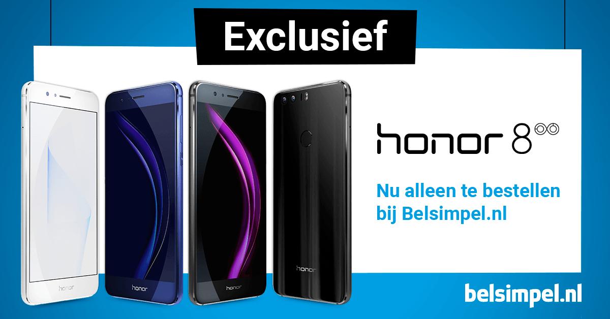Honor 8 nu exclusief verkrijgbaar bij Belsimpel.nl!