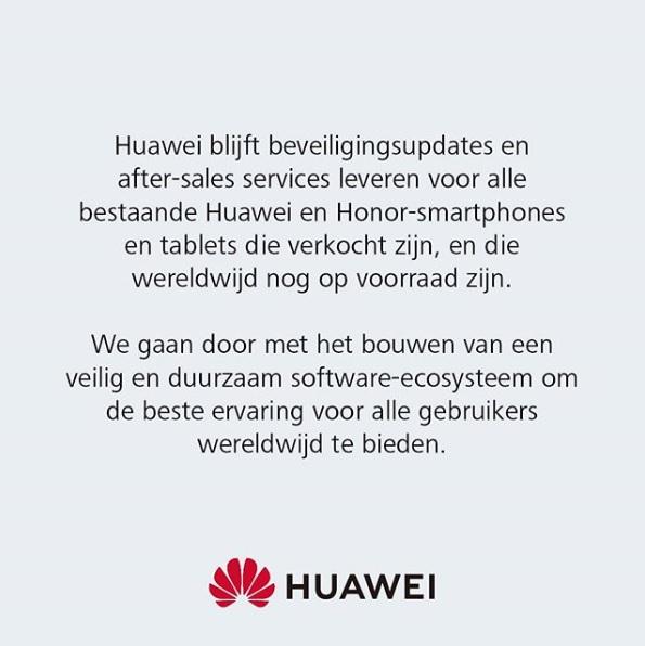 Statement Huawei 20-05-2019