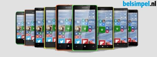 Windows 10 naar nog meer Lumia's!
