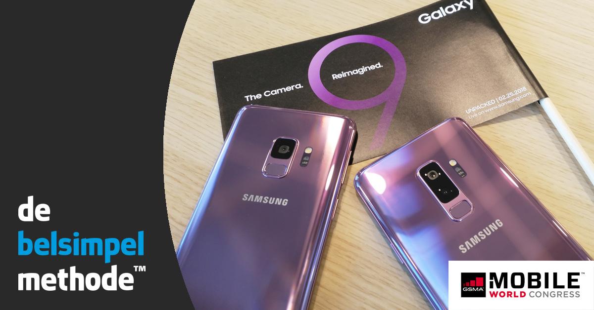 Hands-on Samsung Galaxy S9: verfijning van zijn voorganger