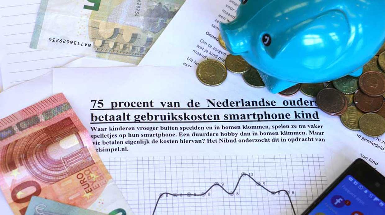 75 procent van de Nederlandse ouders betaalt gebruikskosten smartphone kind