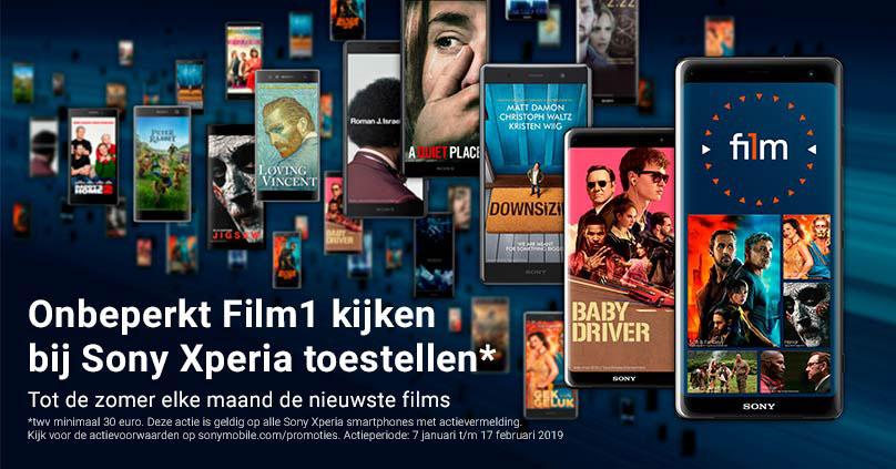 Koop een Sony Xperia en kijk tot de zomer onbeperkt Film1