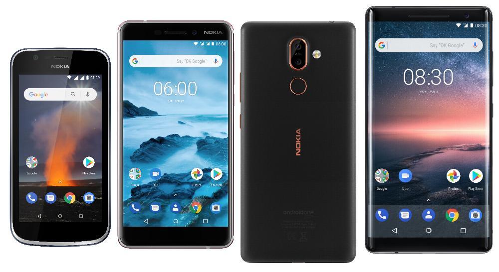 Nokia 1, 6.1, 7+ en 8 Sirocco Edition